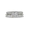 0.75 ct. Round Cut Bridal Set Ring, D, VS1 #3