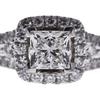 1.07 ct. Princess Cut Halo Ring, F, SI2 #4