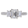1.01 ct. Emerald Cut 3 Stone Ring, G, VS2 #3