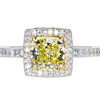 1.28 ct. Radiant Cut Halo Ring, Fancy, VVS1 #1