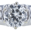 1.14 ct. Round Modified Brilliant Cut Solitaire Ring, G, I2 #4