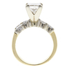 1.5 ct. Princess Cut Bridal Set Ring, I, SI2 #3
