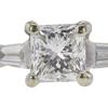 0.82 ct. Princess Cut 3 Stone Ring, F-G, VS2-SI1 #1
