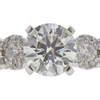 0.99 ct. Round Cut Bridal Set Ring, H, SI2 #4
