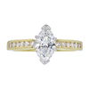1.08 ct. Marquise Cut Solitaire Ring, H, SI1 #3