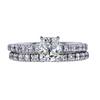 0.90 ct. Cushion Cut Bridal Set Ring, I, VS1 #1