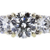 0.90 ct. Round Cut 3 Stone Ring, I, SI2 #4