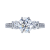 1.50 ct. Round Cut 3 Stone Ring, I, SI2 #3