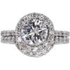 1.54 ct. Round Cut Bridal Set Ring, H, I1 #3