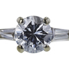 1.16 ct. Round Cut Bridal Set Ring, F, I1 #4