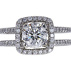 1.0 ct. Round Modified Brilliant Cut Halo Ring, H, SI1 #3