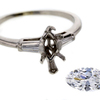 1.04 ct. Marquise Cut Bridal Set Ring #4