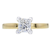 1.00 ct. Princess Cut Solitaire Ring, G, VS2 #3