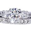 1.16 ct. Round Cut Bridal Set Ring #3