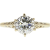 1.18 ct. Round Cut Solitaire Ring, J, I1 #3