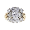 1.51 ct. Marquise Cut Central Cluster Ring, D, SI1 #3