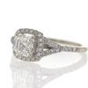 1.06 ct. Asscher Cut Halo Ring #3