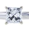 1.11 ct. Princess Cut Bridal Set Ring, D, I1 #4