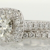0.97 ct. Round Cut Bridal Set Ring #2
