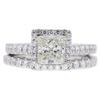 0.96 ct. Princess Cut Bridal Set Ring, H-I, SI1 #1