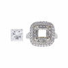 2.47 ct. Princess Cut Halo Ring, E, VS2 #3