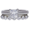 1.0 ct. Princess Cut Bridal Set Ring, F, SI2 #3
