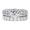 1.36 ct. Round Cut Bridal Set Ring, I, SI2 #3