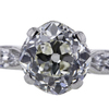1.75 ct. Old Mine Cut 3 Stone Ring #4