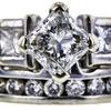 0.91 ct. Radiant Cut Bridal Set Ring, G, I1 #4