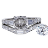 1.01 ct. Round Cut Bridal Set Ring, G, SI2 #3