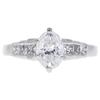 1.04 ct. Oval Cut Bridal Set Ring, D, SI2 #3