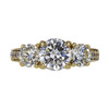 1.01 ct. Round Cut 3 Stone Ring, H, I1 #2