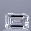 0.64 ct. Emerald Cut Bridal Set Ring, G, VVS2 #1