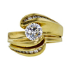 0.72 ct. Round Cut Bridal Set Ring, F, VS2 #3