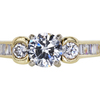 0.72 ct. Round Cut 3 Stone Ring, G, SI2 #3