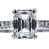 0.95 ct. Emerald Cut Solitaire Ring, F, SI1 #4
