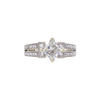 0.95 ct. Princess Cut Bridal Set Ring, H-I, VS2 #2