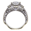1.39 ct. Round Cut 3 Stone Ring, H, VS2 #3