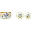 1.8 ct. Round Cut Bridal Set Ring, L, VS2 #3
