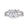 1.17 ct. Round Cut Bridal Set Ring, D, VS2 #3