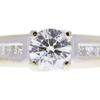 1.03 ct. Round Cut Bridal Set Ring, H, VS2 #4