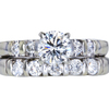 1.00 ct. Round Cut Bridal Set Ring, H, VS1 #3