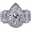3.05 ct. Pear Cut Halo Ring, I-J, I1 #2