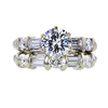 1.00 ct. Round Cut Bridal Set Ring, I, SI1 #3