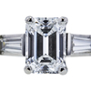 1.21 ct. Emerald Cut 3 Stone Ring, D, SI1 #4