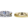 0.91 ct. Round Cut Bridal Set Ring, E, SI1 #3