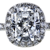 2.35 ct. Cushion Cut Halo Ring, E, VS2 #4