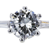 1.98 ct. Round Cut 3 Stone Ring #4