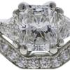1.34 ct. Radiant Cut Bridal Set Ring, F, VVS2 #4