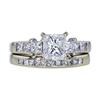 1.03 ct. Princess Cut Bridal Set Ring, I, SI1 #3